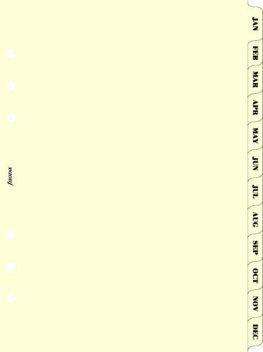 Filofax A5 Jan-Dec Index Cream (B341693)