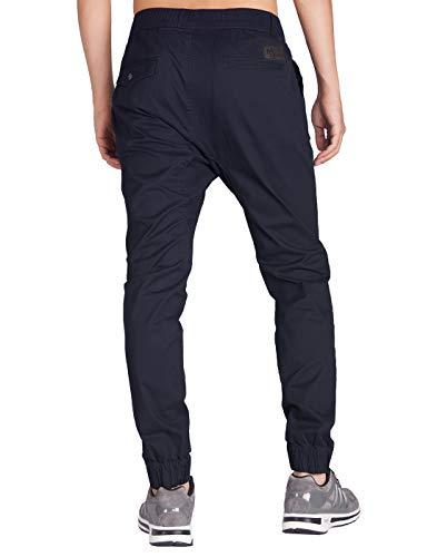 Chino Foncé Pantalons Homme Fit Morn Italy Pants Jogging Casual Sport Bleu Slim Pw1waqIXx