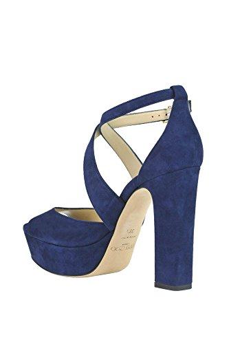 Jimmy Choo Ladies Mcglcat03020e Sandali In Pelle Scamosciata Blu