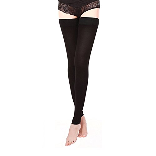 a54b5524a96133 Medical Thigh High Compression Stockings With Silicone Band Firm Support  20-30 mmHg,Gradient Footless Compression Sleeves Thigh Support Stockings  Hose for ...