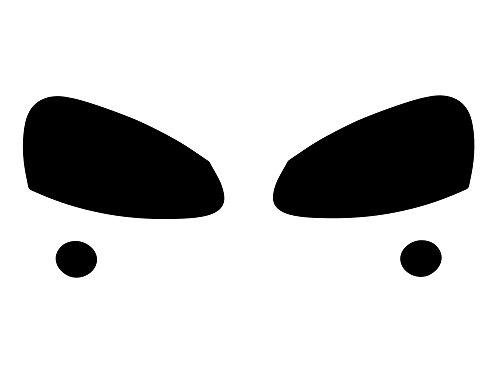 (Rtint Headlight Tint Covers for Volkswagen Jetta 2006-2010 / Golf 2006 / GTI 2006-2009 / R32 2008 / Rabbit 2006-2009 - Blackout Smoke)