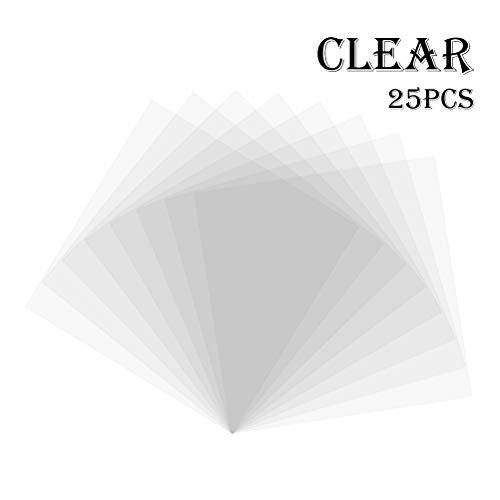 25 Pieces Blank Stencil Sheets Cooyeah 4 Mil Square Blank Craft Stencil Mylar Templates for Making Your Own Stencils (12 x 12 inch)
