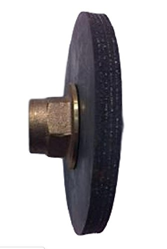 Pro Parts Plus 4'' Force Disc Curb Plunger - Reinforced Rubber - 1/2'' IPS Brass Holder