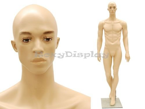 (MC-MIK07F) Realistic Male Mannequin Fleshtone, Good Looking Man, Fiber Glass by Roxy Display