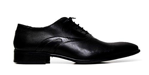 chaussures habillées en cuir Cristiano Gualtieri hommes Lace 510 LINUX BLACK