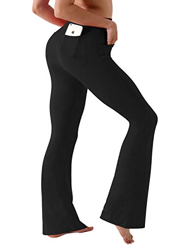 BUBBLELIME Bootleg Yoga Pants Out Pocket High Compression Running Pants UPF30+ Nylon Span Fitness Workout Pants
