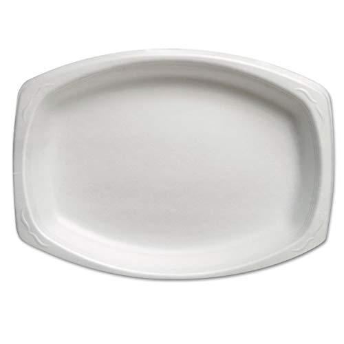Genpak Elite Laminated Foam Plate, 3 Compartment, 8 9/10