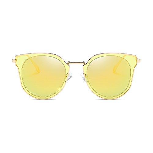 37e99bdab SojoS Fashion Polarized Sunglasses UV Mirrored Lens Oversize Metal Frame  SJ1057