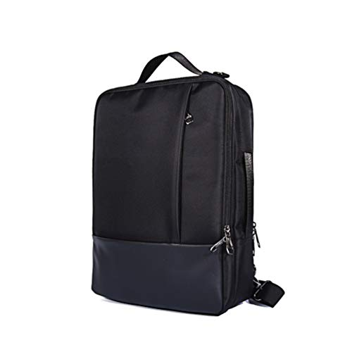 Water Resistant Roomy 3-in-1 Convertible 15.6 Inch Laptop Backpack Briefcase Messenger Shoulder Bag for 14