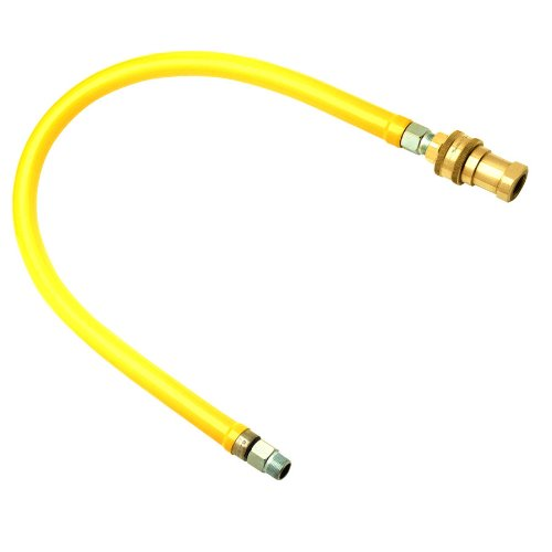 T&S Brass HG-6D-48 Gas Hose with Reverse Quick Disconnect, 3/4-Inch Npt and 48-Inch Long by T&S Brass