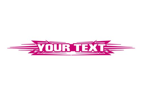Sticky Creations - Design #117 Your Custom Text Personalized Customized Lettering Tribal Windshield Decal Sticker Vinyl Graphic Rear Back Window Tailgate Car Truck SUV | 36