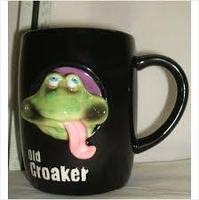 Old Croaker Frog Geezer Animals Mug Russ