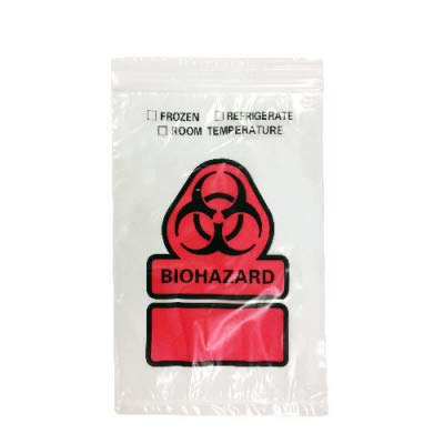 Bag Biohazard w/Pouch 6x9 .Case of 1000
