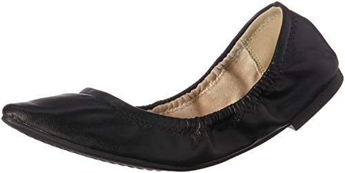 BCBG Generation Women's Madeline Scrunch Ballet Flat, Black, 6.5 M US