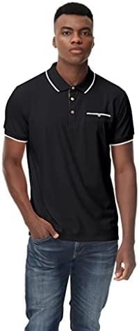 poriff Men's Casual Polo Shirts Regular-fit Short Sleeve Golf Polos T-Shirts