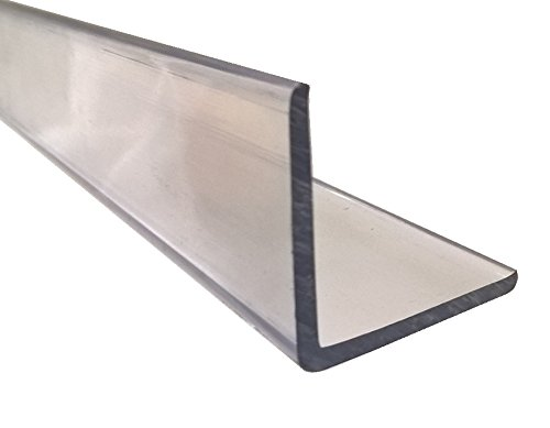 Clear Plastic Corner Guard / Protector, Right Angle, CAB (Cellulose Acetate Butyrate), 1.25