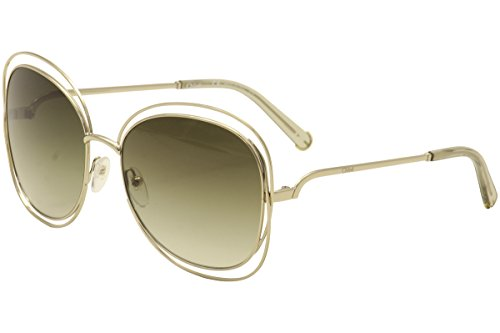Chloe 119 733 Gold 119S Butterfly Sunglasses Lens Category - Carlina Sunglasses Chloe
