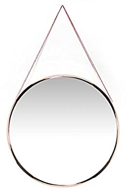 Infinity Instruments Modern Circle Mirror, Rose Gold