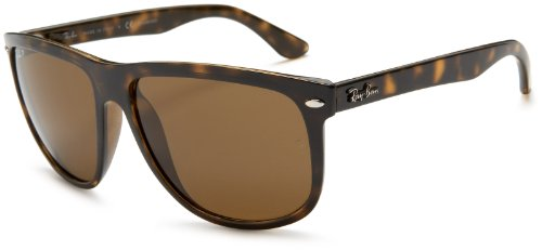 Ray-Ban Mens RB4147 Polarized Square Sunglasses Tortoise FrameBrown Lens 60 mm