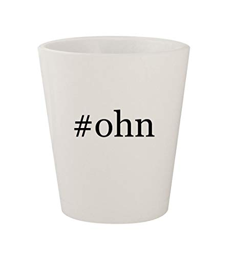 #ohn - Ceramic White Hashtag 1.5oz Shot Glass (Brillen Aus In Einem Tag)