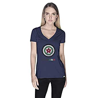 Creo Captain Jordan Superhero T-Shirt For Women - S, Navy