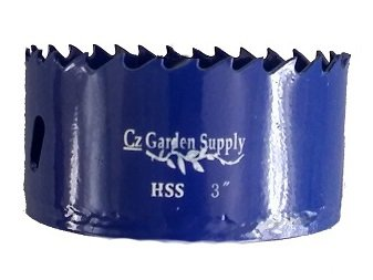 3-Inch Standard Bi-Metal Hole Saw Cup with Speed Slot for Easy Plug Removal. Positive Rake Teeth, Longer Life, Easier Cutting. Superior to Standard Cobalt. By Cz Garden Supply® (Pot Pvc)