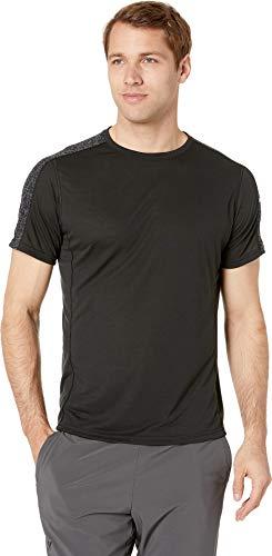 Brooks Men's Distance Short Sleeve Top Black/Static Black Medium (Shirts Brooks Running)