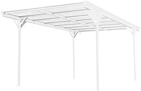 Westmann Helsinki - Techo plano de aluminio, incluye canalón, color blanco: Amazon.es: Jardín