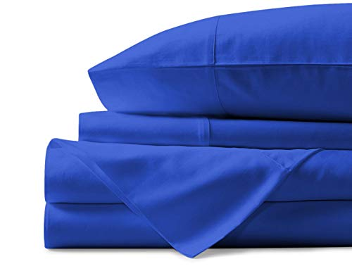 (Mayfair Linen 100% Egyptian Cotton Sheets, White King Sheets Set, 800 Thread Count Long Staple Cotton, Sateen Weave for Soft and Silky Feel, Fits Mattress Upto 18'' DEEP Pocket)