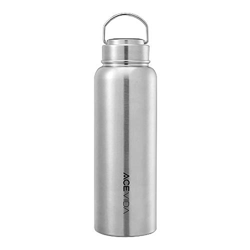 ACEVIDA Active Insulated Water Bottle 40oz, 316 Stainless Steel Water Bottle, Double Wall Vacuum Water Bottle, Sports Bottle, Leak Proof Sports Water Bottle