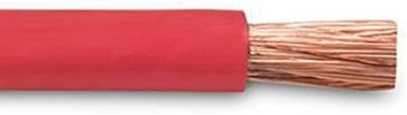 and 5 Copper Lugs Red 1//0 Gauge Crimp Supply Ultra-Flexible Car Battery//Welding Cable 250 Feet