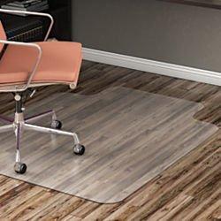 - Realspace Hard Floor Chair Mat, Wide Lip, 45