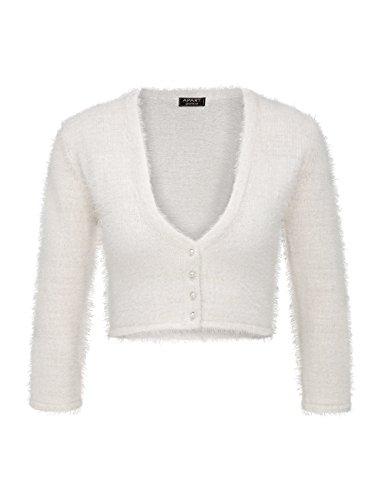 APART Fashion, Torera para Mujer Blanco (Creme)