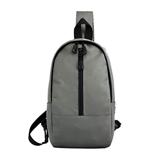 Lightweight Shoulder Cross body Multipurpose Women Men Bag Grey and Backpacks Defeng Sport for Daypacks Chest Pouch Canvas FSHxX