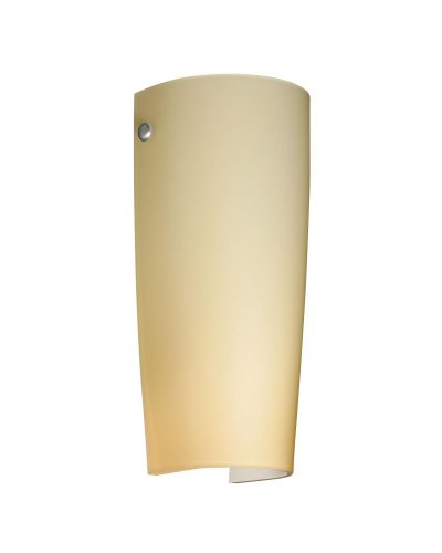 (Besa Lighting 7041VM-SN 1X75W A19 Tomas Wall Sconce with Vanilla Matte Glass, Satin Nickel Finish)