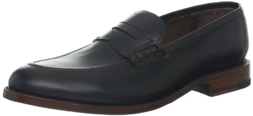 FRYE Men's James Penny Loafer, Black Smooth Full Grain, 9 D (M) US