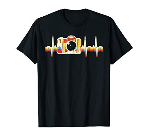 Vintage Camera Heartbeat Shirt Camera Shirt Gift Photograper