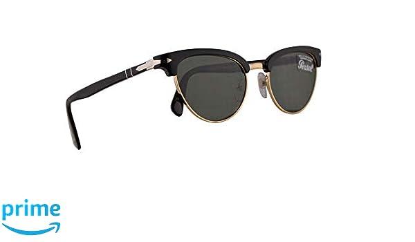 af9f6e018e Amazon.com  Persol PO3198S Tailoring Edition Sunglasses Black w Green 51mm  Lens 9531 PO 3198S PO 3198-S PO3198-S  Clothing