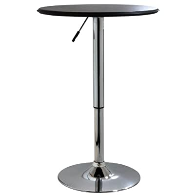 AmeriHome ATABLE Home Style 25in Adjustable Bar Table