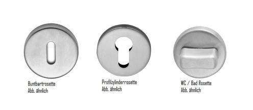 T/ürdr/ücker T/ürklinke Dr/ückergarnitur Modell Chiara-R Messing gl/änzend vernickelt WC-Garnitur