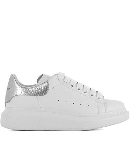 Alexander McQueen Women's 462214Whqyh9071 White Leather Sneakers