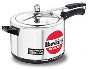 (Hawkins Hevibase IH80 8-Litre Induction Pressure Cooker, Small, Silver )