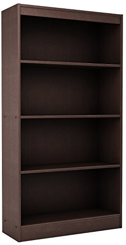 South Shore Axess Collection 4-Shelf Bookcase, Chocolate