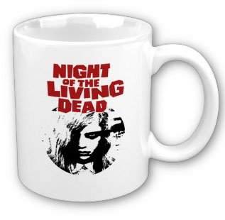 Zombies Movie Night Of The Living Dead 1968 Inspired Promo Stencil Art Coffee, Tea, Hot Coco, Mug, Include Gift -