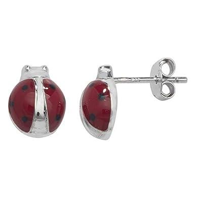 Goldiva Jewellery Ladybird Stud Drop Dangle Earrings Cubic
