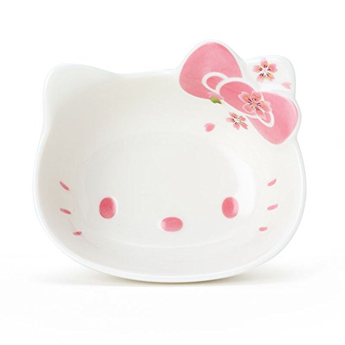 Hello Kitty Ceramic Face Bowl,Cerezo Pink, Made in Japan (S) by Yutoriya