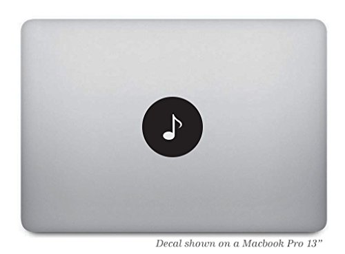 Music Note Macbook Decal - Removable Vinyl Sticker Skin for