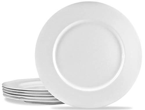 Calypso Basics by Reston Lloyd Melamine Dinner Plate, Set of 6, White