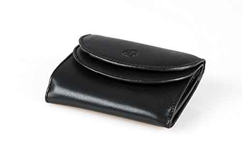 10 Tony 5 Black 9 Italian 5 nbsp;x Men's Real nbsp;cm Cortina Wallet Leather Perotti q0POOEg