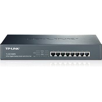 TP-Link 8-Port Gigabit Ethernet PoE+ Unmanaged Energy-efficient Switch with 124W 8-PoE+ Ports |  Plug and Play | Metal |  Desktop/Rackmount | Lifetime (TL-SG1008PE)